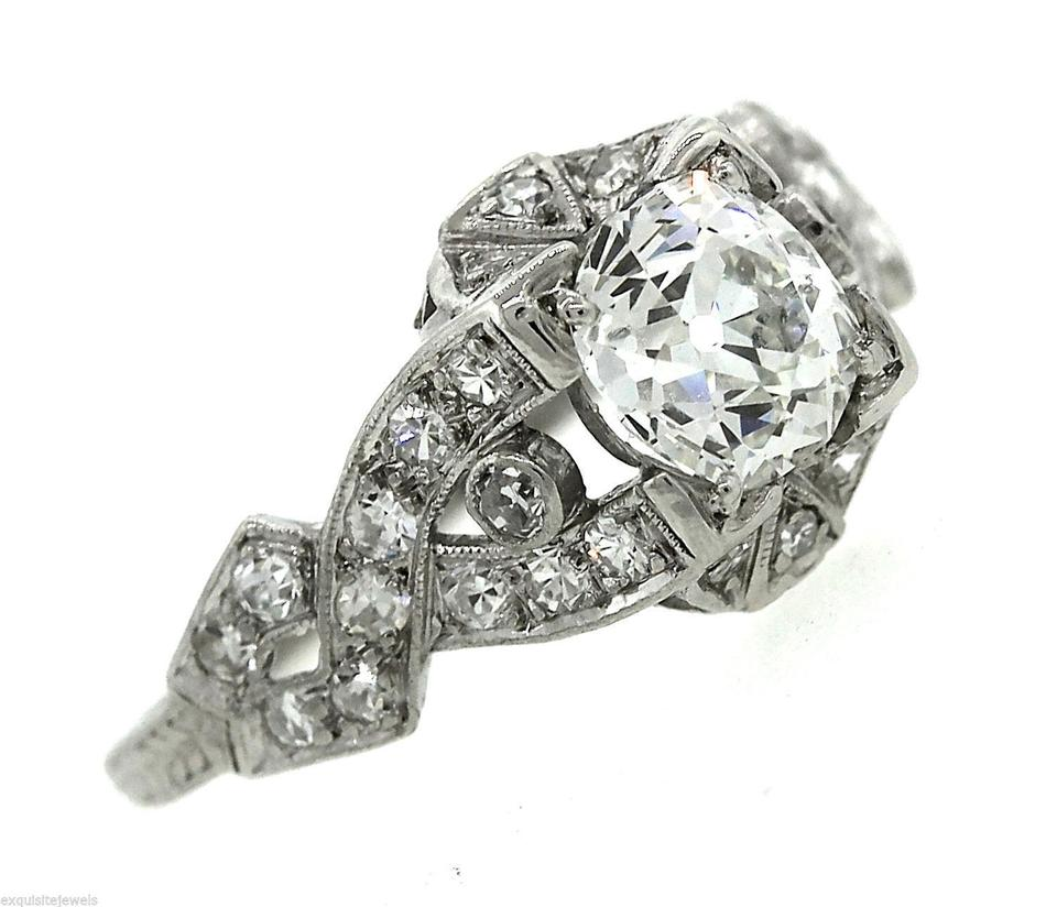 i deco engagement rings eccentric antique ring diamond art ladies platinum