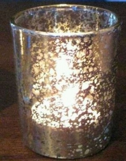 Silver 100 Mercury Glass Votive Holders Candle Holder Speckled Reception Decoration