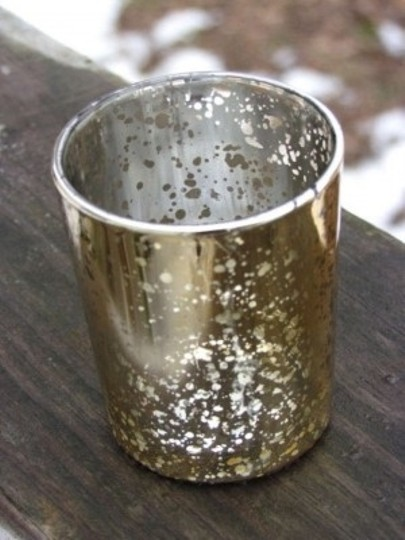 Gold 100 Mercury Glass Holders Holder Speckled Votive/Candle