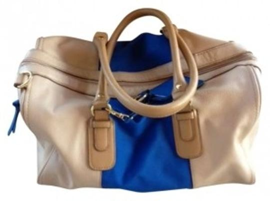 Preload https://item4.tradesy.com/images/h-and-m-tan-and-blue-faux-leather-satchel-162858-0-0.jpg?width=440&height=440