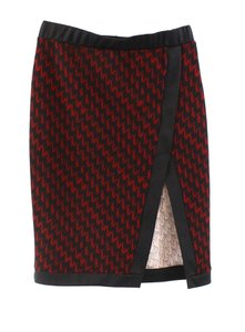 Lily White Skirt Red