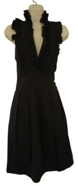 Preload https://img-static.tradesy.com/item/16287/bcbgmaxazria-black-ruffle-neck-above-knee-cocktail-dress-size-6-s-0-0-650-650.jpg