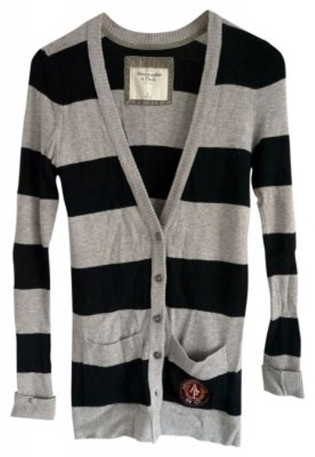 Preload https://item3.tradesy.com/images/abercrombie-and-fitch-grey-and-dark-blue-cardigan-size-8-m-162872-0-0.jpg?width=400&height=650
