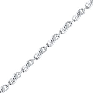 10k WHITE GOLD 0.25 CTTW DIAMOND FASHION TENNIS BRACELET