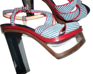Gianni Bini Red White Blue Pumps