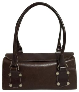 Prüne Satchel in Dark Brown