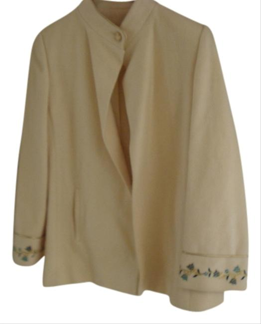 Preload https://item2.tradesy.com/images/saks-fifth-avenue-vintage-cream-peacoat-ivory-embroidered-1628821-0-0.jpg?width=400&height=650