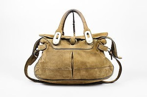 Balenciaga Off White Satchel in Brown