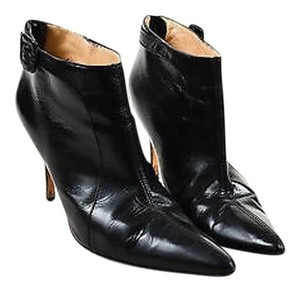 Manolo Blahnik Leather Black Boots