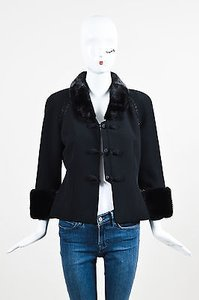 Badgley Mischka Wool Black Jacket