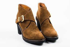 Fendi Suede Gold Tone Brown Boots