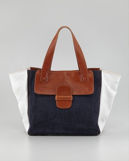 MARC JACOBS Tote in WHITE AND BLUE