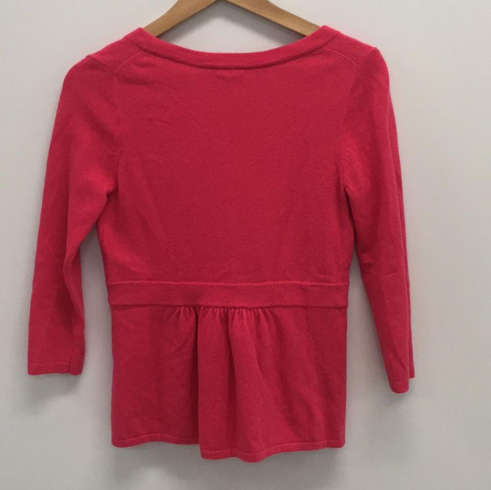 Red J Crew Cardigan Poppy Wool EpEw4qY