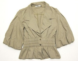 Mike & Chris Sold Out Mike Chris Fleece Sweateshirt Blazer Jacket Peplum Skirted
