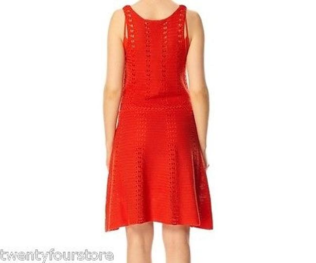 French Connection short dress Red Fcuk Ingrid Flare Crochet Sweater In Sierra 0 on Tradesy Image 2