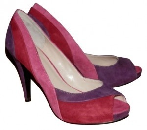 Nine West Pink, Red, and and Purple Pumps