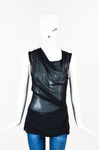 Helmut Lang Silk Semi Top Black