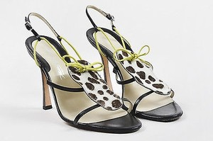 Brian Atwood Brown Cream Multi-Color Sandals