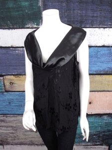 Spenser Jeremy Spencer Alexis Collections Art To Wear Artsy Cowl Neck 1x Top Black