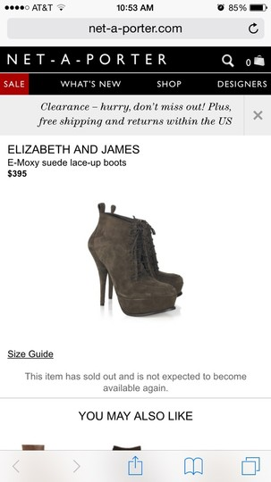 Elizabeth and James Brown Boots