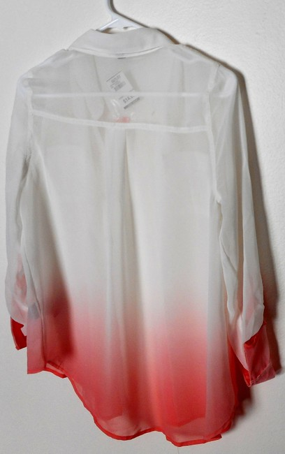 Other 100% Polyester Style # Ta2449 Top White, coral bottom
