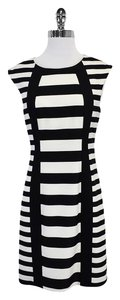 Trina Turk short dress Black & White Striped on Tradesy