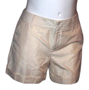 Jennifer Lopez Mini/Short Shorts CREAM WITH GOLD SHEEN
