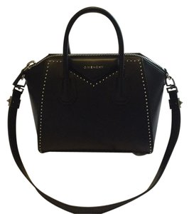 Givenchy Antigona Antigona Tophandle Studded Satchel in Black