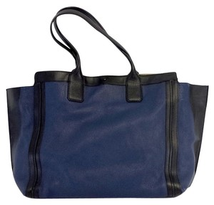 Chloé West Navy Black Tote