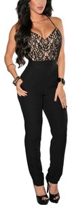 Jumpsuit Black Halter Top