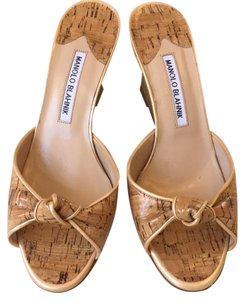 Manolo Blahnik cork Wedges