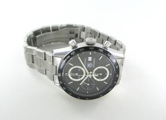 TAG Heuer TAG HEUER CARRERA MEN WATCH STAINLESS STEEL DATE WITH BOX CV2010 CHRONO BLACK