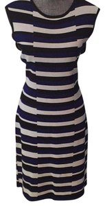 Calvin Klein short dress Blue, white and black print on Tradesy