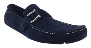 Salvatore Ferragamo Mens Navy Flats