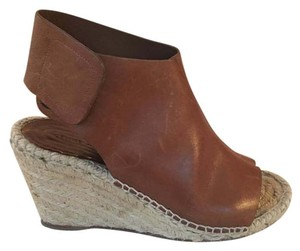 Céline Espadrille Wedge Leather Camel/brown Wedges