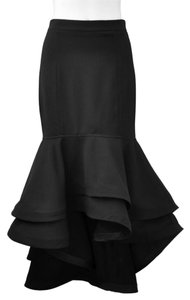 Gracia Mermaid Small Maxi Skirt Black