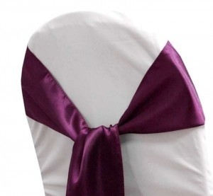 Eggplant 95 Satin Sashes (+ 25 More): Read For Details Reception Decoration