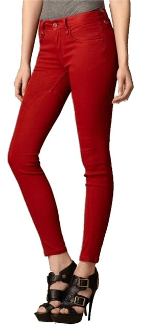 Item - Red Coated Pilton Skinny Jeans Size 29 (6, M)