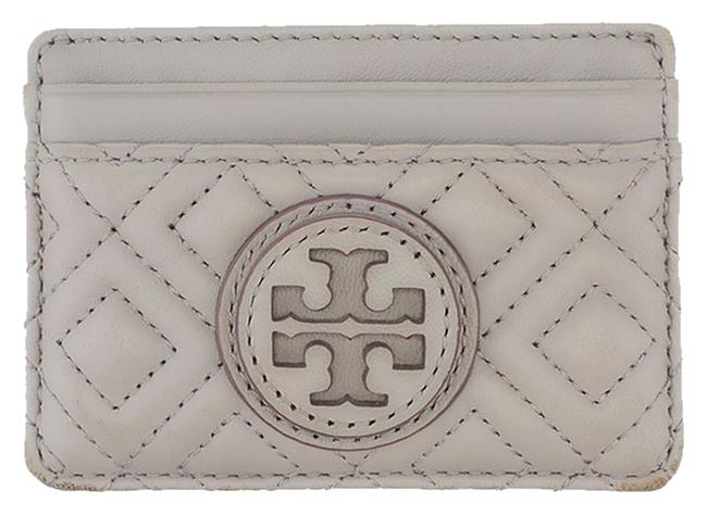 Item - Grey Marion Quilted Leather Card Holder (20888) Wallet