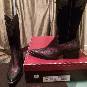 Donald J. Pliner Wine and pewter Boots
