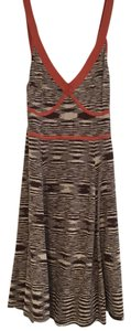 BCBGMAXAZRIA short dress Orange, brown, tan on Tradesy