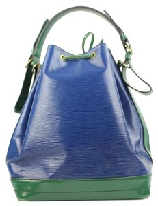 Louis Vuitton Green Blue Two-tone Special Order Limited Edition Shoulder Bag