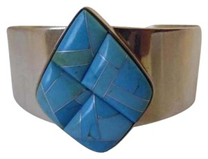 Mine Finds by Jay King Jay King Turquoise Inlay Cuff Bracelet fits 6 3/4