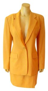 DKNY DKNY Skirt Suit Size 8 Blazer Size 10 Skirt Yellow Jacket P2083