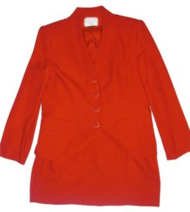 Kasper ASL Petite Kasper ASL red 2 piece business suit