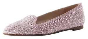 Valentino Rockstud Crystal Loafers Pink Flats