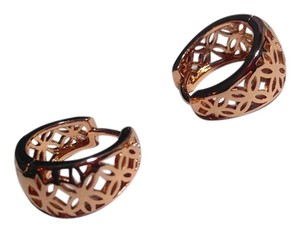 Other New 14K Rose Gold Filled Small Hoop Earrings J2655