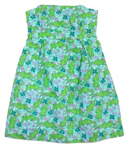 Lilly Pulitzer short dress Blue & Green Gator Floral on Tradesy