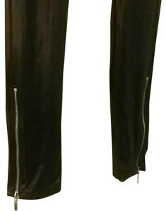 Miley Cyrus & Max Azria Faux Leather Stretchy Elastic Black Leggings