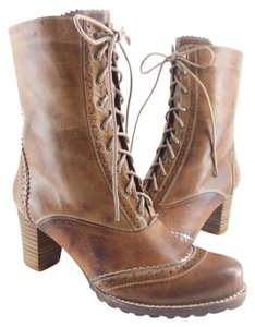 Antelope 75% Off Retail Brown Leather & Lace Boots
